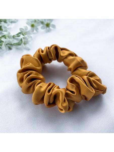 Gumka do włosów jedwabna Mini złota
