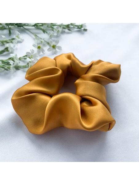 Gumka do włosów jedwabna Maxi złota