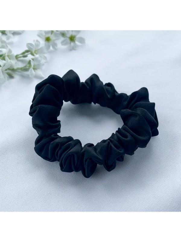 Gumka do włosów jedwabna Mini czarna